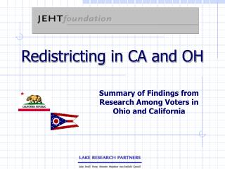 Redistricting in CA and OH