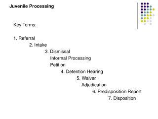 Juvenile Processing