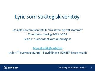 Uninett  konferansen 2013:
