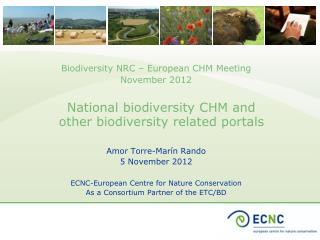 National biodiversity CHM and other biodiversity related portals