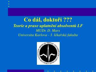 Studenti a absolventi LF v ČR 1987 - 2003