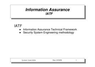 Information Assurance IATF
