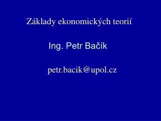 Ing. Petr Bačík