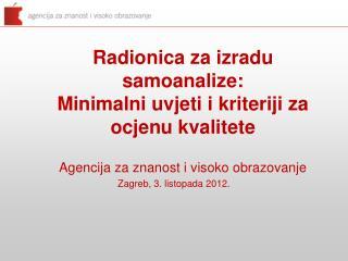 Zagreb, 3. listopada 2012.