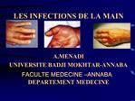 LES INFECTIONS DE LA MAIN