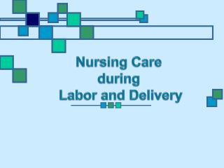 Nursing Care during  Labor and Delivery