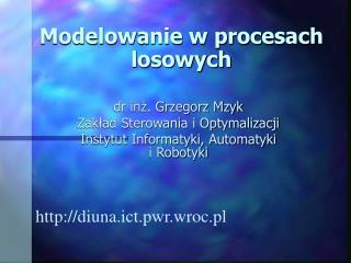 Modelowanie w procesach losowych