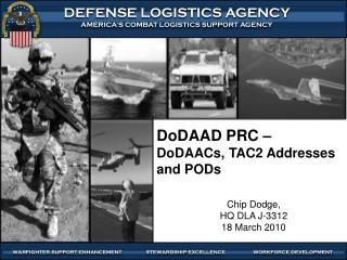 DoDAAD PRC    DoDAACs, TAC2 Addresses and PODs
