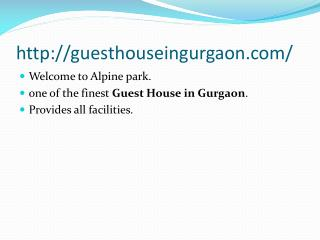 affordable guest house in gurgaon
