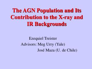 The AGN Population and Its Contribution to the X-ray and IR Backgrounds