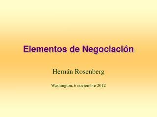 Elementos de Negociaci ón