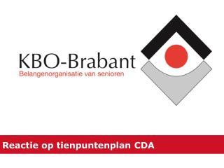 Reactie op tienpuntenplan CDA