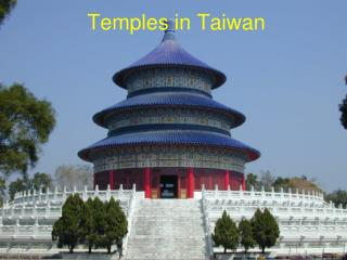 Temples in Taiwan