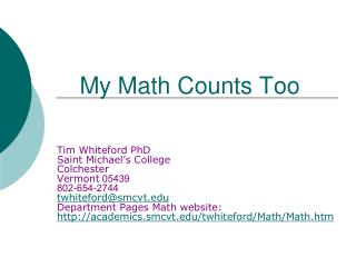My Math Counts Too