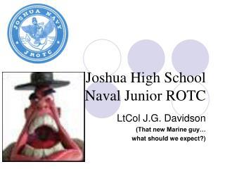 Joshua High School Naval Junior ROTC