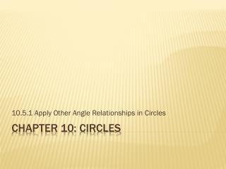 Chapter  10 :  Circles