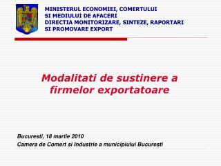 Modalitati de sustinere a firmelor exportatoare