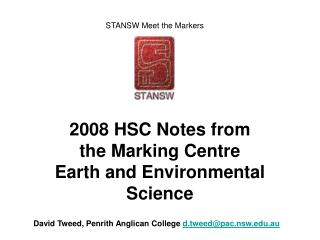 2008 HSC Notes from the Marking Centre Earth and Environmental Science