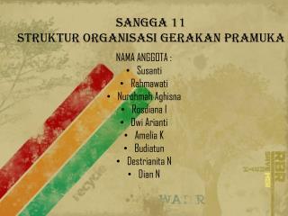 Sangga 11 STRUKTUR ORGANISASI GERAKAN PRAMUKA