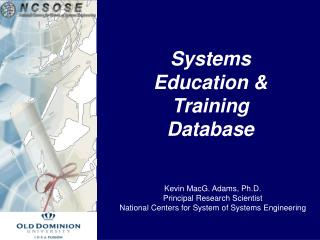 Systems Education & Training Database