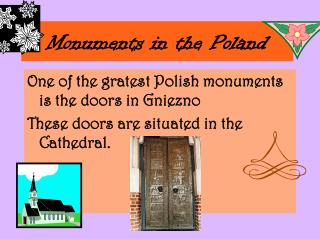 Monuments in the Poland