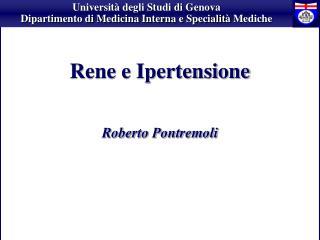 Rene e Ipertensione Roberto Pontremol i