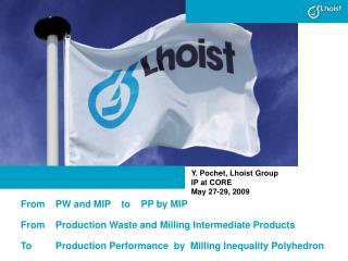 Y. Pochet, Lhoist Group IP at CORE May 27-29, 2009
