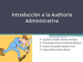 Introducción a la Auditoria Administrativa