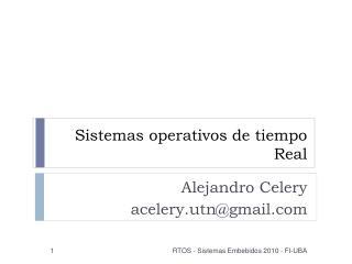 Sistemas operativos de tiempo Real