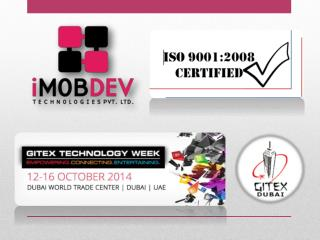 iMOBDEV Technologies, @ Dubai�s GITEX, going to offer choice