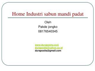 Home Industri sabun mandi padat