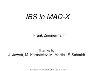 IBS in MAD-X