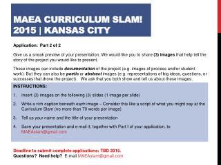 M AEA  Curriculum Slam!  2015  |  Kansas City