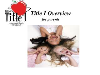 Title I Overview for parents