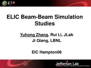 ELIC Beam-Beam Simulation Studies