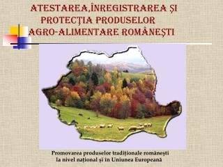 ATESTAREA,ÎNREGISTRAREA ŞI  PROTECŢIA PRODUSELOR        agro-alimentare  ROMÂNEŞTI