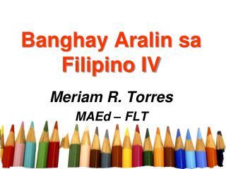 Banghay Aralin sa Filipino IV