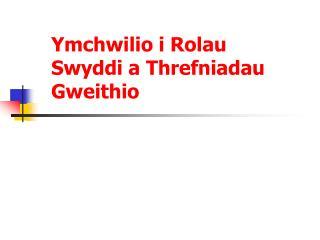 Ymchwilio i Rolau Swyddi a Threfniadau Gweithio