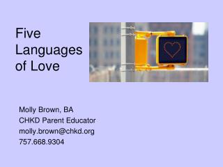 Five  Languages  of Love