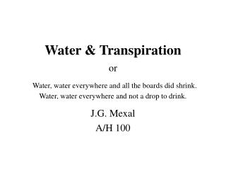 J.G. Mexal A/H 100