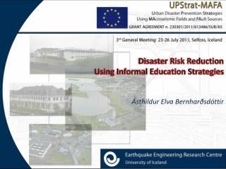 Disaster Risk Reduction  Using Informal Education Strategies