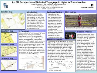 An EM Perspective of Selected Topographic Highs in Transdanubia