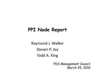 PPI Node Report