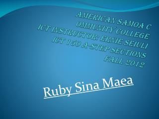 Ruby Sina  Maea