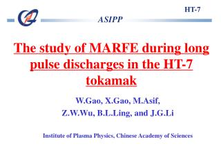 The study of MARFE during long pulse discharges in the HT-7 tokamak