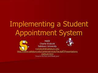 Implementing a Student Appointment System