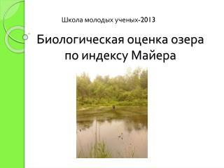 Биологическая оценка озера по индексу Майера