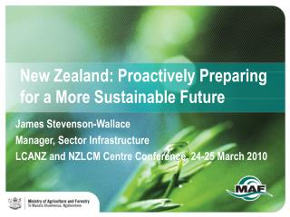 New Zealand: Proactively Preparing for a More Sustainable Future