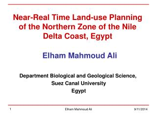 Near-Real Time Land-use Planning of the Northern Zone of the Nile Delta Coast, Egypt
