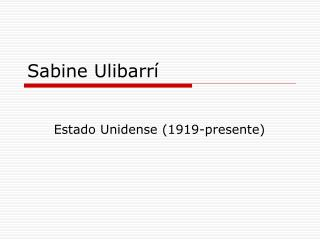 Sabine Ulibarrí